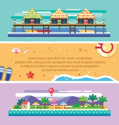 Beach summer landscape vector