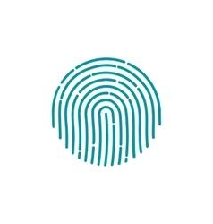 Fingerprint icon image flat fingerprint icon app vector
