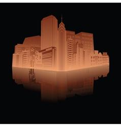 vintage city background vector image