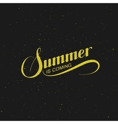 Handwritten summer is coming retro label vector