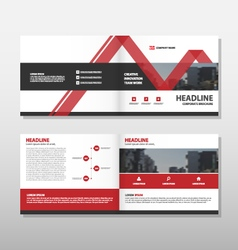 Red Brochure Leaflet Flyer annual report template vector image