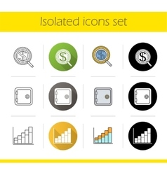 Banking and finance icons vector