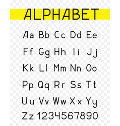 alphabet characters font vector image vector image