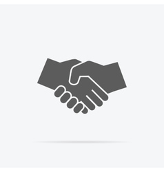 Black icon handshake vector