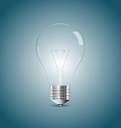 Bulb lamp realistic vector image vector image