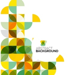 Circle geometric abstract background vector