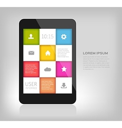 Colorful design for mobile devices vector