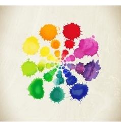 Colorful rainbow drops vector