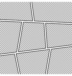 Comic strip frame vector image vector image