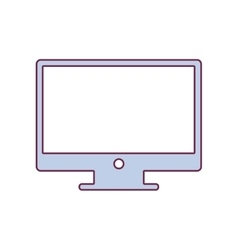 contour lcd monitor in light purple color vector image