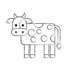 cow farm isolated icon vector image vector image