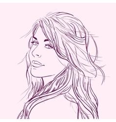 Flirting beautiful young woman vector image vector image