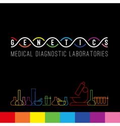 Genetics logo set vector