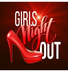 Girl night out party design vector