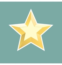 gold relief star icon Stock vector image