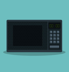 Home appliance oven microwave isolated icon vector