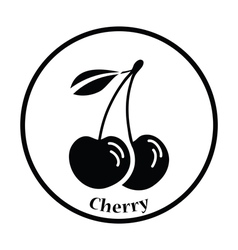 Icon of Cherry vector image vector image