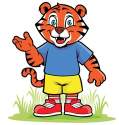 Little tiger vector image