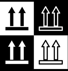 Logistic sign of arrows black and white vector