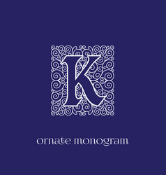 Monogram k vector