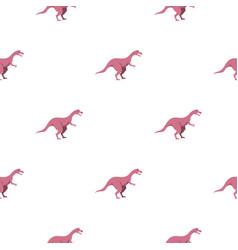 Pink hypsilophodon dinosaur pattern seamless vector