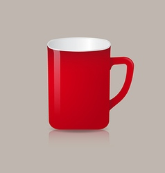 Red coffee or tea cup vector image