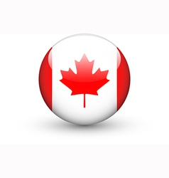 Round icon with national flag of Canada vector image vector image