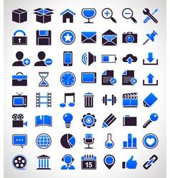 set of 56 simple universal icons vector image vector image