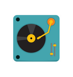 Simple turntable dj graphic vector