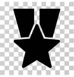 Star medal icon vector