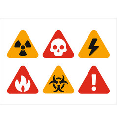 triangular hazard warning signs vector image