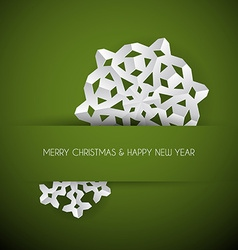white paper christmas snowflake vector image