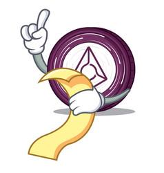 With menu augur coin mascot cartoon vector