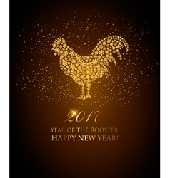 2017 new year background with rooster symbol vector