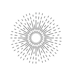 Sun rays linear drawing star burst in vintage vector