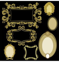 Seven frames golden color vector