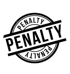 Penalty rubber stamp vector