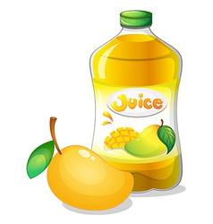 A bottle of mango juice vector image