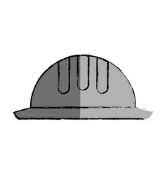 construction helmet isolated icon vector image