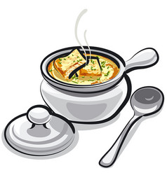 French onion soup vector
