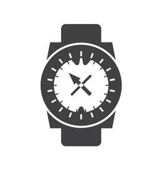 Underwater sport watch compass icon vector