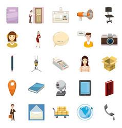 Transportation of money icons set cartoon style vector