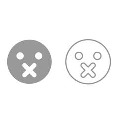 silence emoticon it is icon vector image