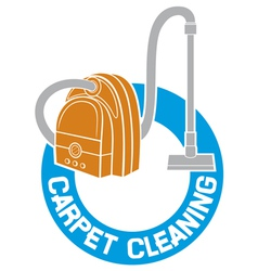 Carpet cleaning service sign vector
