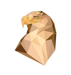 Polygonal royal eagle vector