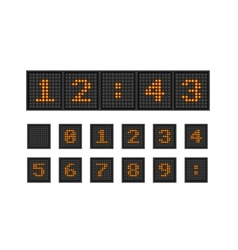 Set pixel numbers of lighting bulb vector image