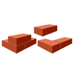 Red bricks brickwork vector