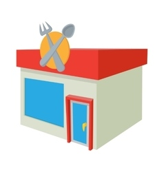 Cafe icon cartoon style vector