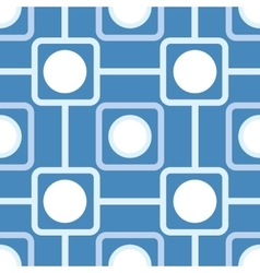 Seamless pattern with rounded squares vector