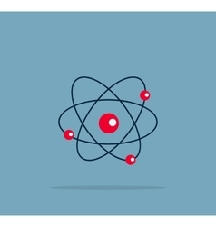 Atom structure symbol vector